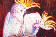 "Gordon Syron, ""Sulphur crested cockatoos"", ____, #144"